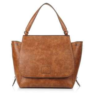 15e20449f5 Τσάντα Ώμου Trussardi Jeans Zenzero Handle Bag Ecoleather Tumbled 75B00496